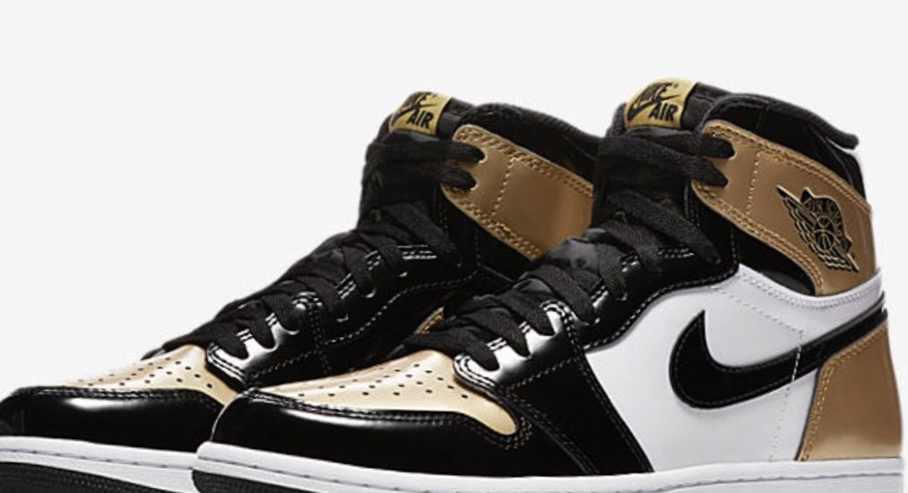 best service 2de49 3dcc7 Air Jordan 1 NRG Glossy Black and Gold Toes Releasing 02 16
