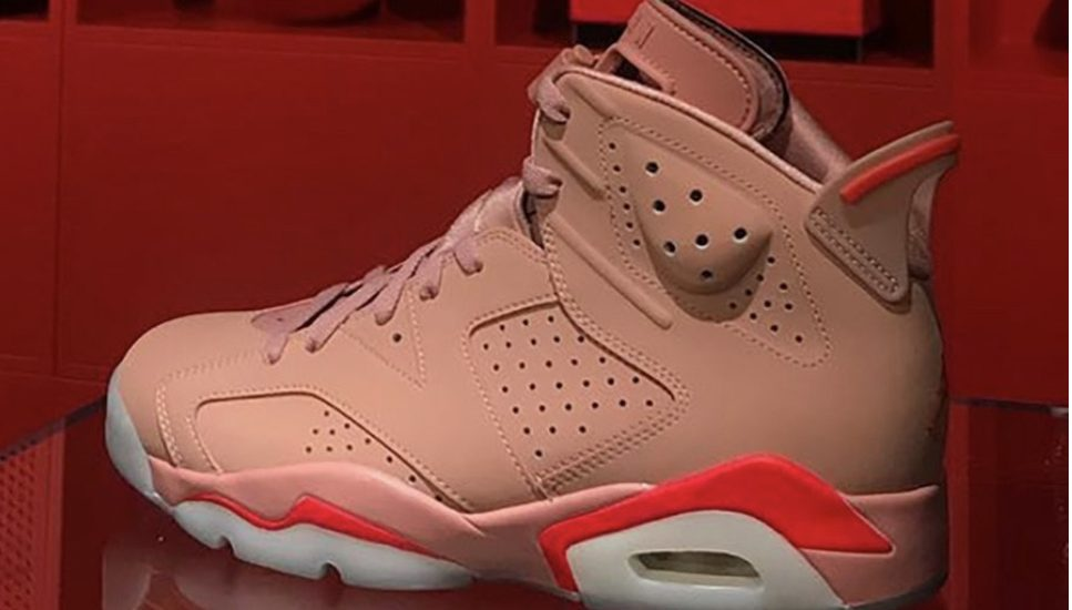 uk availability 2faa9 d0606 Aleali Rust Pink Infrared Jordan 6, commemorative of the Infrared OG Retro 6